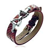 Les Trésors De Lily J8742 - Leder-armband 'Diane' braun (python-muster).