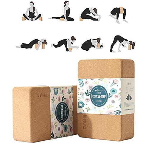 QiZheng Bloque Yoga, Apoyo para Todas Las asanas, meditaciones y Ejercicios de relajación, para Principiantes y Profesionales