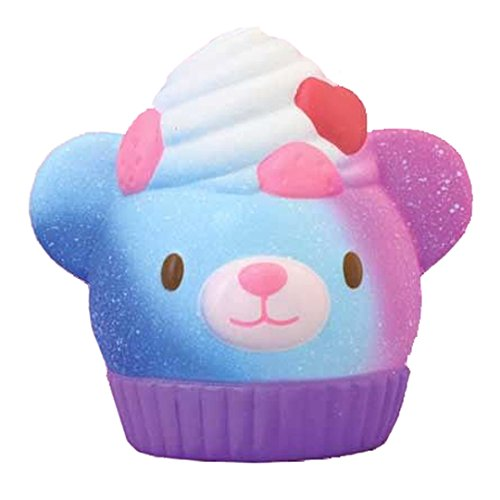 ibloom Magic Bear Bakery Slow Rising Cute Squishy Toy (Apollo Sweet, Dark Purple, Raspberry Scented, 3.9 Inch) [Kawaii Squishies for Party Favors, Stress Balls, Birthday Gifts for Kids, Girls, Boys]