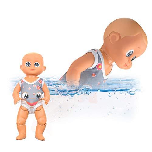 N/I Schwimmbad Baby Elektrische Puppe, Strand Wasserspielzeug, Geburtstagsgeschenk Kinder Badewanne Spielzeug, Ungiftige High Simulation Nude Latex, Knopflose Induktionspuppe (Farbbox)