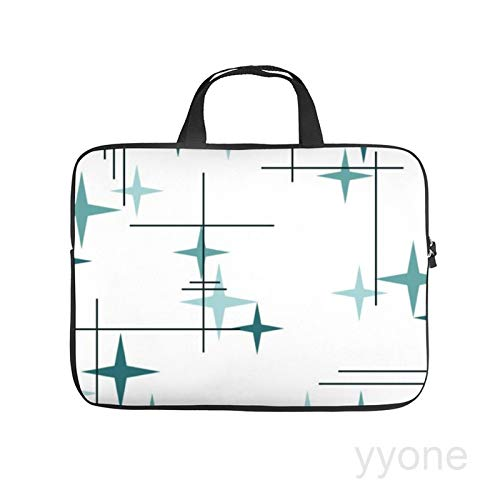 Neoprene Sleeve Laptop Handle Bag Handbag Notebook Case Cover Mid century modern stars Portable MacBook Laptop/Ultrabooks Case Bag Cover 15 Inch