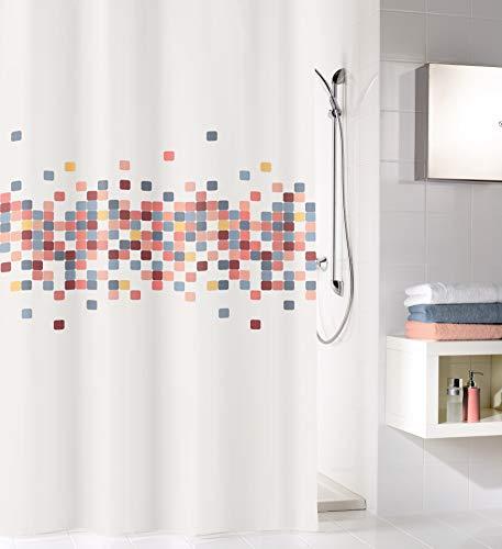 Kleine Wolke Cora Duschvorhang, Textil PES, Multicolor, 180x200 cm
