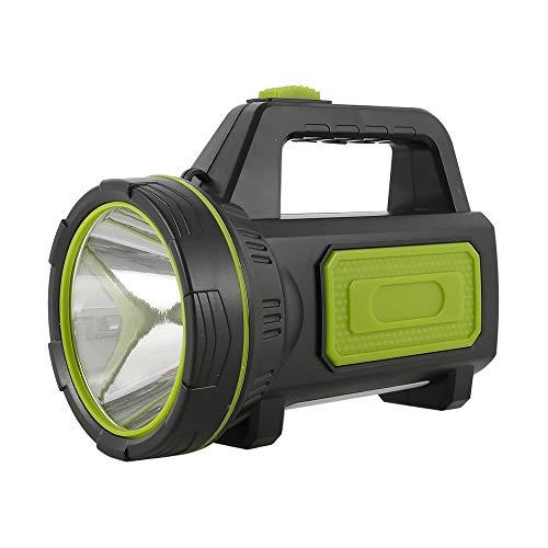 Torcia LED Ricaricabile ad Alta Potenza 10W Super Luminoso Impermeabile Portatile con Luce Laterale, per Campeggio, Pesca, Trekking, Emergenze Escursioni