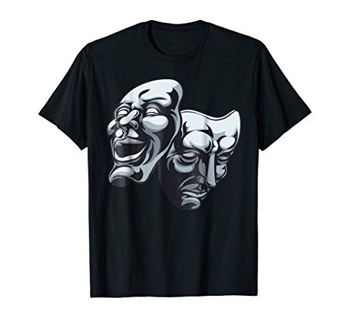 Drama Theater Masks Comedy and Tragedy T Shirt