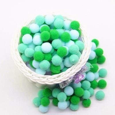 HONGTAI Mini Fluffy online Price reduction shopping Pompom Mixed Color Pom Balls Plush Soft