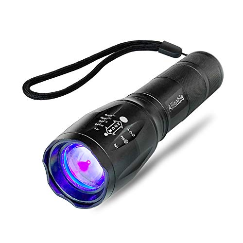 Updated 2020 Version Black Light, Allisable UV Flashlight Detector for Dry Pet Urine and Stains with Adjustable Focus