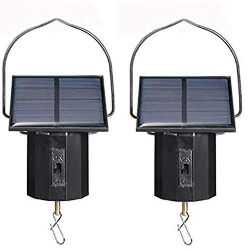 Jaimenalin Motor de Pantalla Colgante Solar, Motor PequeeO Giratorio, Motor Giratorio de Viento de EnergíA Solar, Gancho Giratorio Multiusos, 2 Uds.