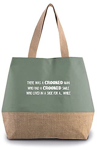 Hippowarehouse There was a crooked man who had a crooked smile who lived in a shoe for a while� Premium reusable eco friendly 100% cotton tote shopper bag for life 43cm x 33cm x 17cm