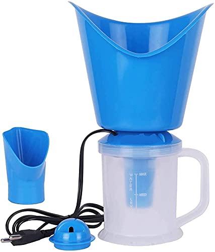 Case Plus Nano-Cure Facial Steamer & Medical Steam Inhaler Steamer Vaporizer with Nano-Ionic Technology, UV Sterilization, Steamer For Facial,Cold & Cough -Blue (Blue) (Blue)