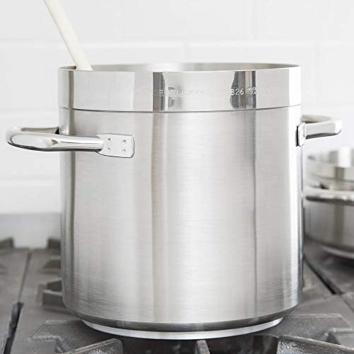 Aluminum Stock Pot - Induction Ready Stainless Steel Stock Pot for Kitchen, Restaurant 40 qt. (pack of 3)