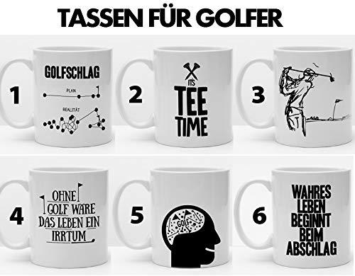 Tasse für Golfer   Golfgeschenk   Sechs Kaffeetassen zur Auswahl für Golfspieler   Schöne Geschenkidee