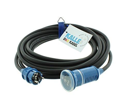 SCHUKO Gummiverlängerung 230V H07RN-F 3G 2,5 mm² von KALLE DAS KABEL 15 Meter