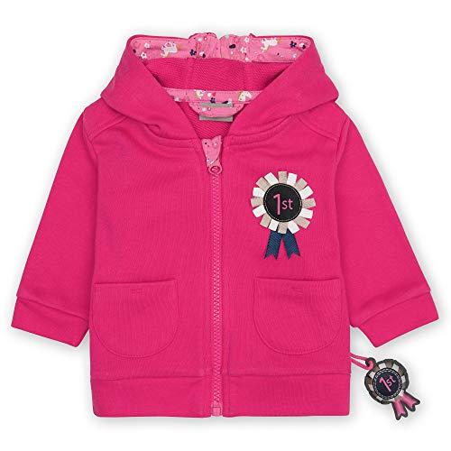 Sigikid Baby-Mädchen Sweatjacke mit Kapuze aus Bio-Baumwolle für Kinder Sudadera para bebé, Rosa/pony, 12 meses para Bebés