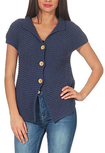 malito dames vest met knopen | Cardigan in elegant Design | Oversize Look - Vest - Jas - Cardigan 5060