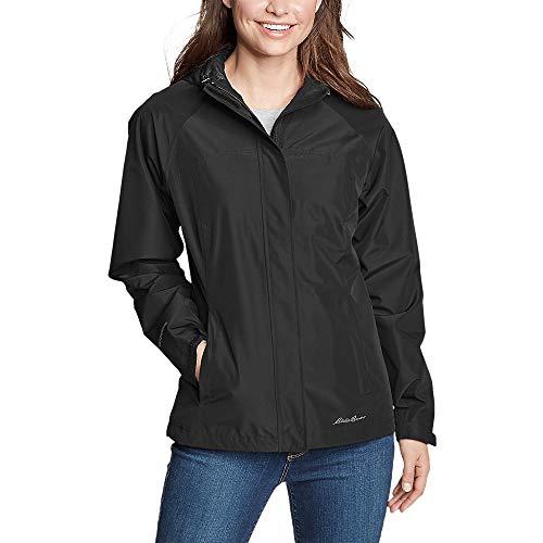 Eddie Bauer Women's Rainfoil Packable Jacket Petite, Black Petite L