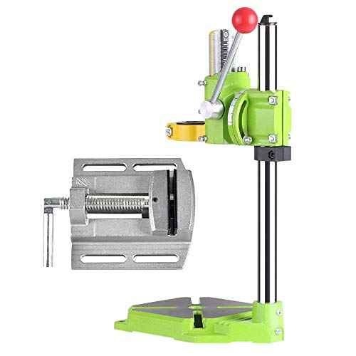 TOPQSC Electric Drill Stand Table Multifunction Benchtop Drill for Drill Workbench Drill Repair Tool for Drill Chuck Table 35 & 43mm 0-90 Degrees with Flat Pliers