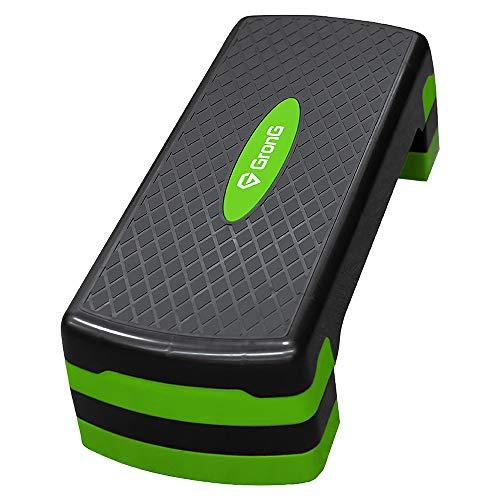 GronG(グロング) ステップ台 踏み台昇降運動 3段階調整 滑り止め加工 グリーン
