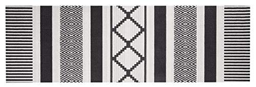 Zala Living Waschbarer Küchenläufer Küchenteppich Teppichläufer Urban (45x140 cm, 100% Polyamid, rutschfest, Fußbodenheizung geeignet), Schwarz