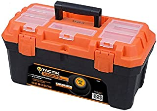 Tactix Tool Box, Plastic, 50.7cm(20inch), Multi Color, H12.2 x W12.4 x D3.4 cm