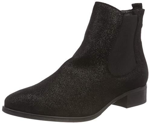 Tamaris Damen 25388-21 Chelsea Boots, Schwarz (Black Metallic 33), 38 EU