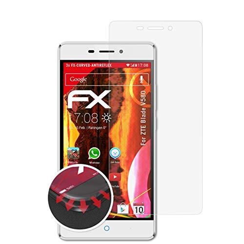 atFolix Schutzfolie kompatibel mit ZTE Blade V580 Folie, entspiegelnde & Flexible FX Bildschirmschutzfolie (3X)