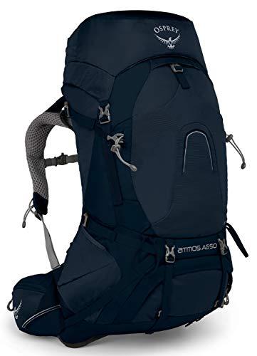 Osprey Homme Atmos AG 50 Sac à Dos, Bleu, M