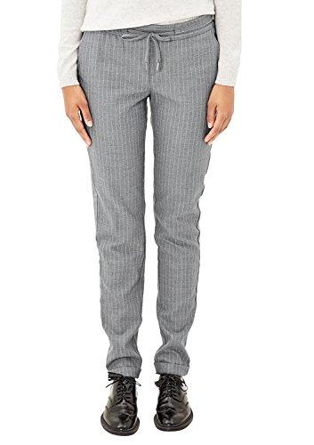 s.Oliver Damen 14710732154 Hose, Grau (Grey Melange Pin Stripes 97J0), W34/L32 (Herstellergröße:34)