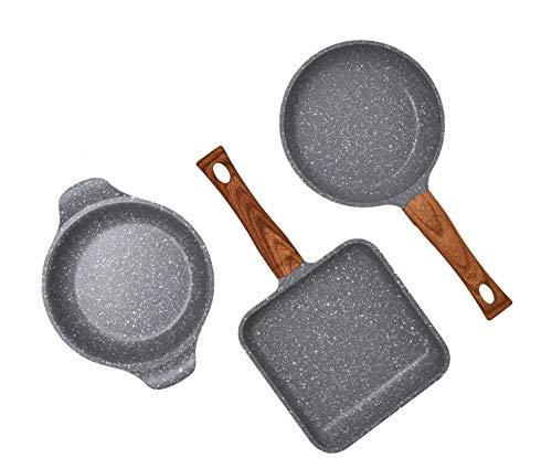 Amercook Set Capriccio (Mini Grill, Mini sartén y Mini cazuela)