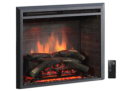 PuraFlame 26 Inches Western Electric Fireplace Insert with Remote Control,...
