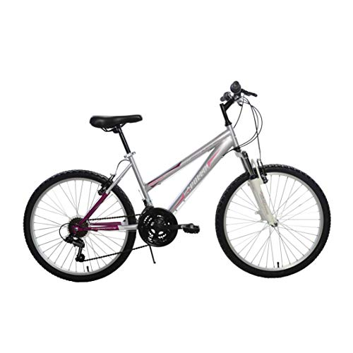 Apollo Highlight Hardtail Mountain Bike, 24 inch Wheels, 16 inch Frame, Girl's Bike, Silver