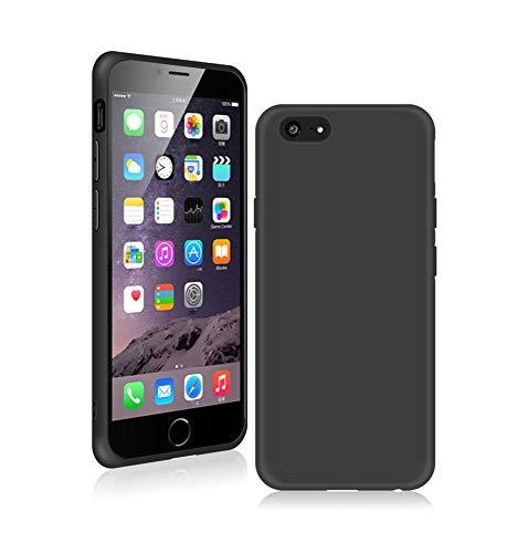 SDTEK Custodia iPhone 8 Plus (Nero) Cover Case Bumper Caso Matte Matte Silicone Gel per iPhone 8 Plus / 7 Plus