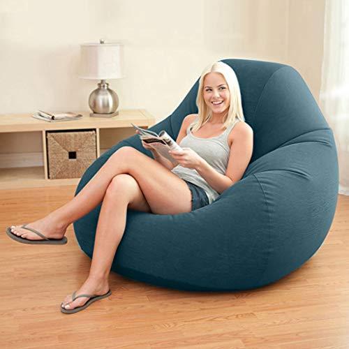 Gglloio Bean Bag Stuhl, Wohnheim Stuhl, aufblasbarer Stuhl, Sitzsack for Kinder, faul Sofa, Sitzsack for Erwachsene, die Luft zu sprengen Stuhl, Sitzsack, mit Luftpumpe Kopf und Reparatursatz