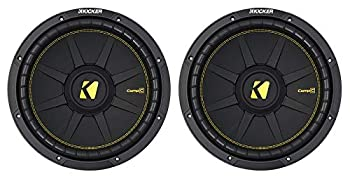 2  KICKER 44CWCD124 CompC 12  1200 Watt Dual 4-Ohm Car Subwoofers Subs CWCD124