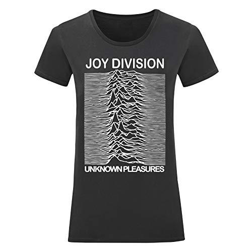 LaMAGLIERIA T-Shirt Donna Joy Division - Maglietta Rock 100% Cotone, M, Nero
