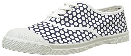 Bensimon Damen Tennis Lacet Colorspots Sneaker, Blau (Marine), 40 EU