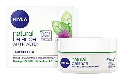 Nivea Natural Balance Anti-Falten Tagespflege, Gesichtspflege, 1er Pack (1 x 50 ml)