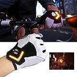 NBRR Fahrrad-Handschuhe, LED-Blinker, automatische Drehinduktion, Spleiß-Handschuh, rutschfest, verschleißfest, bequem und atmungsaktiv.