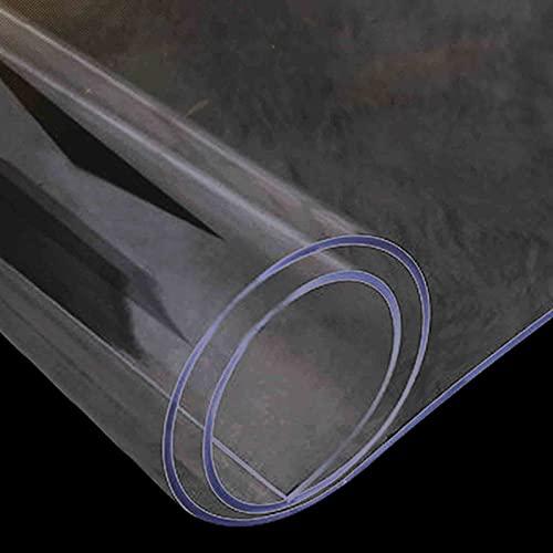 JLXJ Alfombra Pasillo Alfombrilla Transparente para Silla de Oficina para Piso de Madera Dura y Protector de Corredor de Alfombra, Plástico Antideslizante Impermeable Alfombrilla, Se Puede Cortar