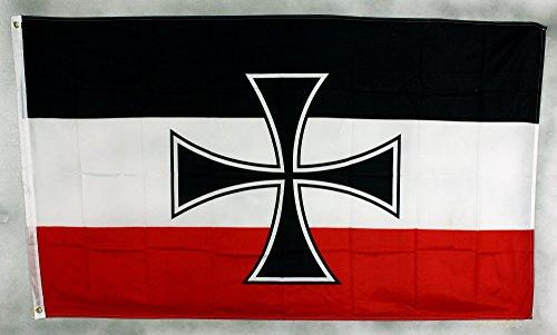 Flagge Fahne ca. 90x150 cm : Gösch Kriegsmarine vor 1918 Göschflagge