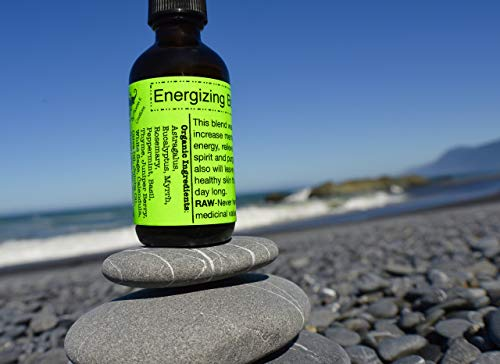 Energizing Body Oil-Raw, Organic, Vegan/Clears negative energy/Relieves stress/Increases mental clarity/Moisturizes all day long!