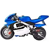 XtremepowerUS Gas Pocket Bike Mini Motorcycle Ride-On 40cc 4-Stroke Engine for...