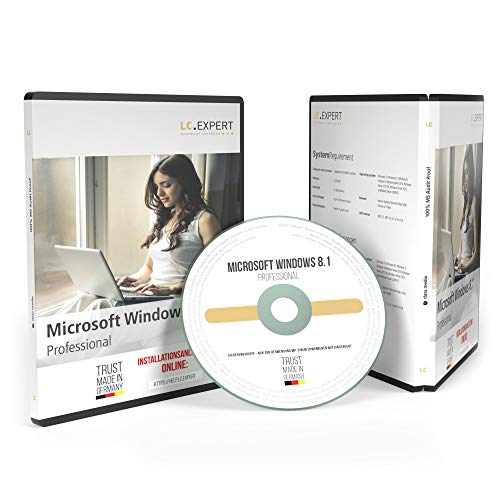 Windows 8.1 Professional 64bit ISO DVD mit Lizenzunterlagen und inkl. aller aktuellen Updates, auditsichere Volumenlizenz von lc.expert