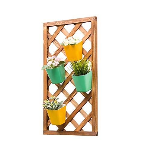 DHTOMC-installatie steiger wandbehang plant staan bloemenrek van hout zwemdok planken decoratieve hangplanken voorgemonteerd voor binnen en buiten gebruik
