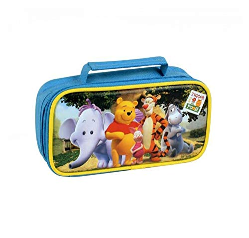 KICKKICK® Astuccio Winnie Pooh Disney Colorato con 1 Zip 19x10x5.3cm – Astucci per Matite Penne per la Scuola Bambini - Disponibili in Diverse Colorazioni