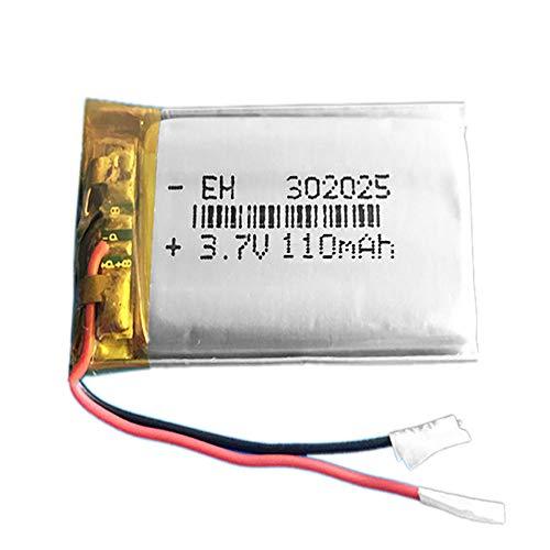 Batería 302025 LiPo 3.7V 110mAh 0.407Wh 1S 5C Liter Energy Battery para Electrónica Recargable teléfono portátil vídeo mp3 mp4 luz led GPS - No Apta para Radio Control (3.7V 110mAh 302025)