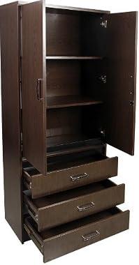 Shilpi Handicraft Standard Size Double Door & 3 Drawer Cabinet for Living Room/Wooden Multipurpose Storage Wardrobe/Cupbo