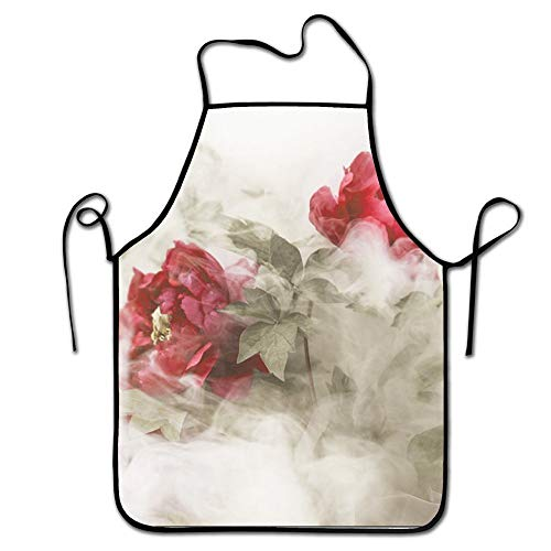 N\A Chefs Schürze EIS Clipart Schöne lustige Küchenschürzen Kochschürze 100% Polyester Langlebig Komfortable Lätzchen Chef Küchenschürzen