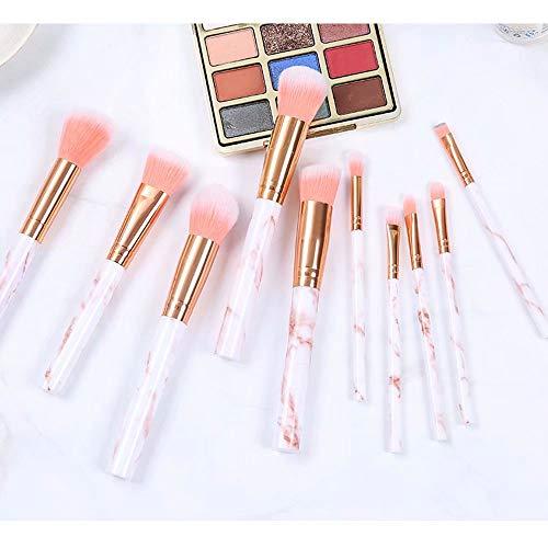 Maquillage Pinceaux 10 Pièces Marbre Motif Maquillage Professionnel Pinceau Maquillage Fondation Kabuki Mélange Concealer Soin des Yeux Visage Liquide Poudre Crème Brosses Ensembles