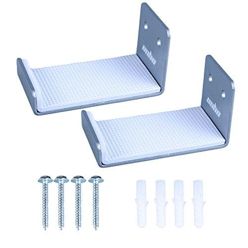 Unho® Soporte de Pared para Tabla de Surf, Un Par de Sostenedor Colgante, Estante de Pared para Tablas de Surf,de Aluminio Inoxidable,12x5x5cm