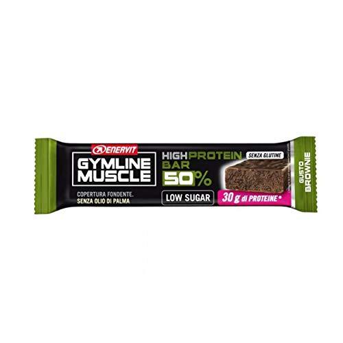Enervit Protein Bar 50% box 25x60g.Gluten Free e Low Sugar, con 30 g di proteine gusto Brownie